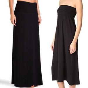 SPLENDID Black Maxi Tube Skirt Small